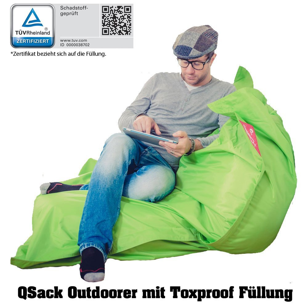 qsack outdoor sitzsack robust und f r jedes wetter geeignet. Black Bedroom Furniture Sets. Home Design Ideas